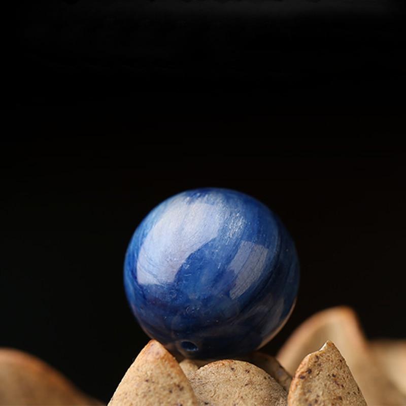 Pure natural kyanite loose beads bead cat eye effect single bead multi treasure bracelet accessories