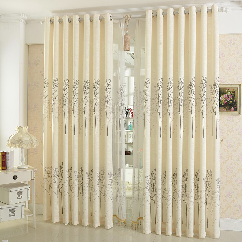 Modern style printed cotton and linen sitting room bedroom for Curtain making service