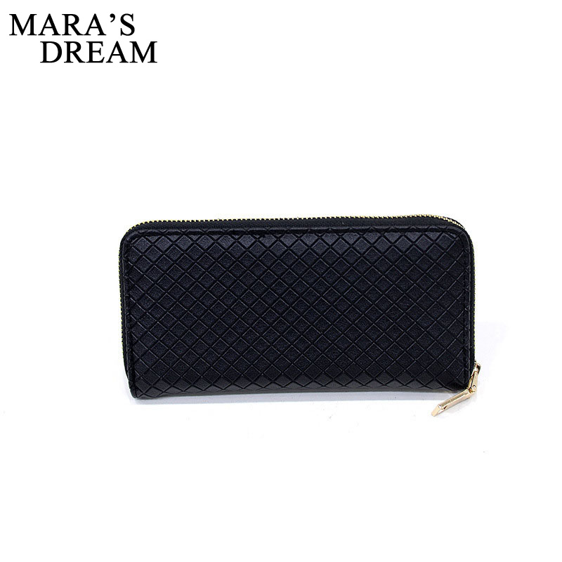 Mara's Dream Women Wallets Fashion Solid Female Wallet Women Change Purses Carteira Feminina Ladies' Long Design Brand Purse lykanefu fashion cross designer women wallets long women clutch purses ladies wallet purse female carteira feminina day clutches