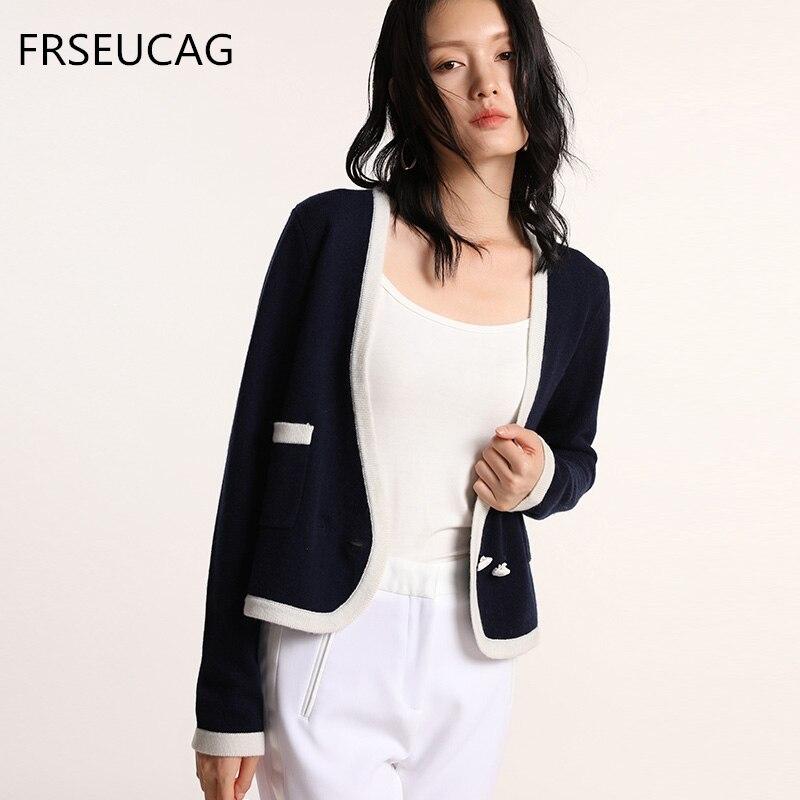 Femmes col en v à manches longues tricot haut de gamme cachemire chandail mode chaud court cardigan manteau chandail automne et hiver modèles nouveau