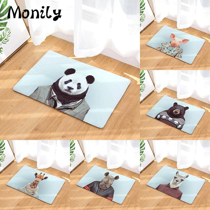 Pig Kitchen Decor: Monily Anti Slip Waterproof Floor Mat Giraffe Panda Pig