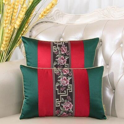 Последние европейские декоративные Чехлы для дивана, кресла, спинки, поясничная Подушка, роскошный Шелковый атласный чехол для подушки - Цвет: Многоцветный