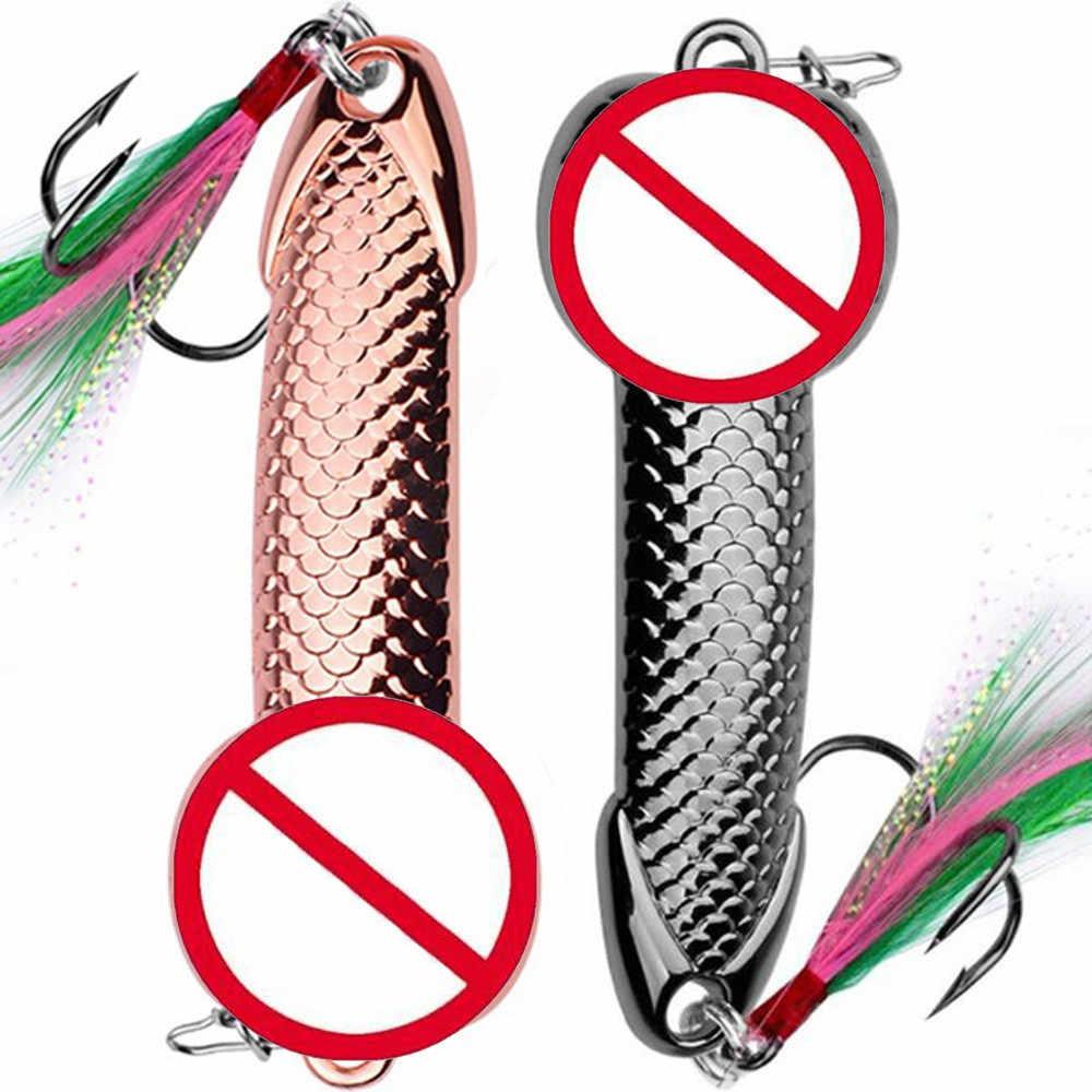 Ilure 2019 新 1 個ハードvib金属ウォブル魚ルアースプーンルアー羽餌フック釣具