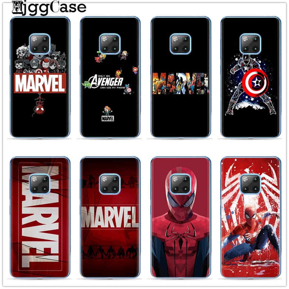 Marvel Avengers Pahlawan Komik Cover untuk Huawei Kehormatan 9 10 Lite 6X 7X 8X 8C Y9 2019 Mate 10 20 lite Pro Lembut TPU Kasus Telepon Capa