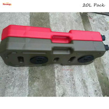 Car Styling 2PCS Red Yellow Olive Green Hight Strength ABS 20L Gasoline Diesel Fuel Pack With Lock For Offroad 4*4 ATV Wrangler