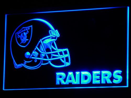 b331 Oakland Raiders Helmet Bar LED Neon Sign with On/Off Switch 20+ Colors 5 Sizes to choose Plastic Crafts