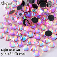 Iron On Hotfix Rhinestone Shiny Light Rose AB DMC Flatback Hotfix Rhinestones Ss6 Ss10 Ss16 Ss20
