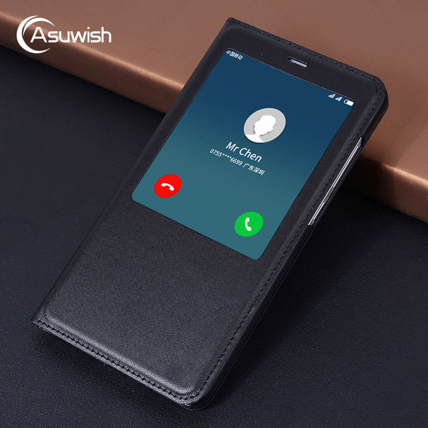 Asuwish Flip Cover Smart Leather Case For Xiaomi Redmi Note 4x Redmi Note 4 Pro X Prime Global Version Note4 Note4x Phone Case