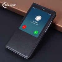 Flip Cover Leather Magnetic Case For Xiaomi Redmi Note 4x Note 4 Pro X Prime Note4 Note4x Xiomi Xaomi Smart View Phone Case