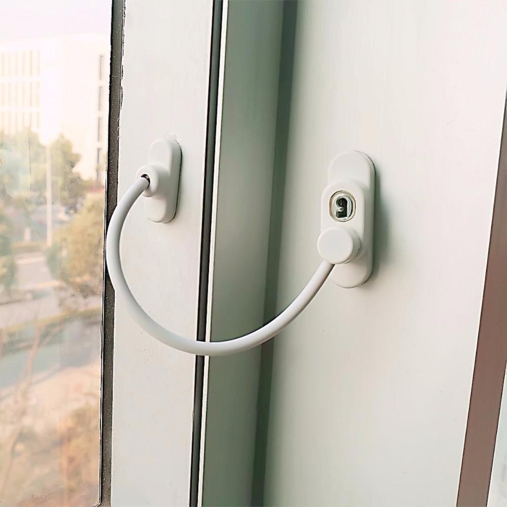 Nosii Window Door Restrictor Child Baby Safety Security Cable Lock Catch WireNosii Window Door Restrictor Child Baby Safety Security Cable Lock Catch Wire