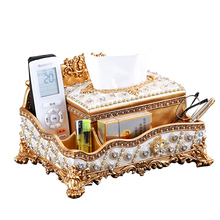 Европейская коробка для салфеток журнальный столик для гостиной домашний лоток Роскошный домашний декор многофункциональный ящик для хранения пультов дистанционного управления