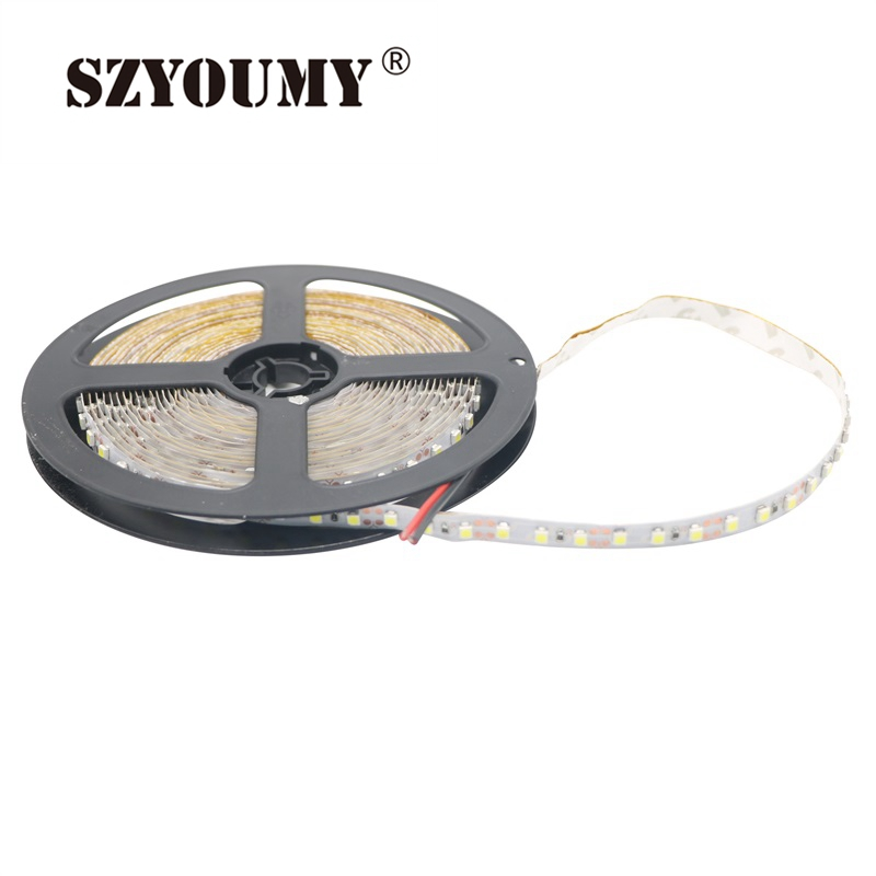 100% Quality Szyoumy Dc 12v Led Strip Light Not Waterproof Smd 2835 5m 600led Lampada Led Light Tape Flexible Ribbon Lamp Warm White Clear-Cut Texture Lights & Lighting
