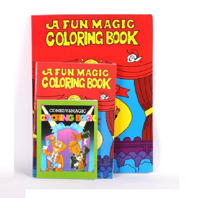 Gratis verzending Groot formaat grappig kleurboek Comedy Magic Books Close-up Street Magic Tricks Grimoire Spellbook Child Puzzle Toy