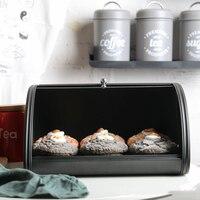 Dustproof Galvanized Iron Bakery Sweets Pastries Bin Bread Storage Box Kitchen Metal Bread Bin Container Cake Organizer