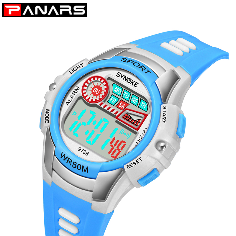 PANARS 50M Waterproof Children Watches Children Watch Digital Child Watch Kids Gift Pedometer Montre Enfant Etanche