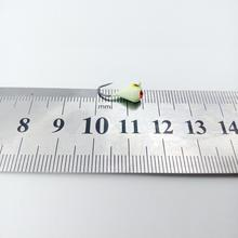 Winter Ice Fishing Hook Lure Mini Metal Bait Fish 6Pcs 15mm Lead Head Hook Bait Jigging Fishing Tackle