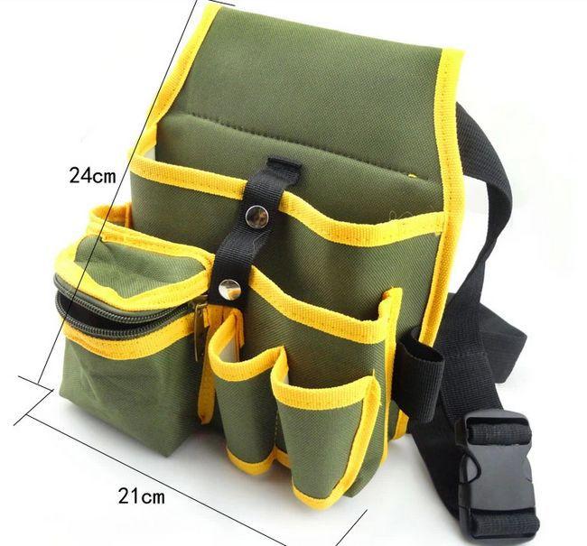 SunRed haute qualité vert avec noir multifuntional outils sac pour électricien 600D densité NO.104 1 freeshipping dans Armoires à outils de Outils