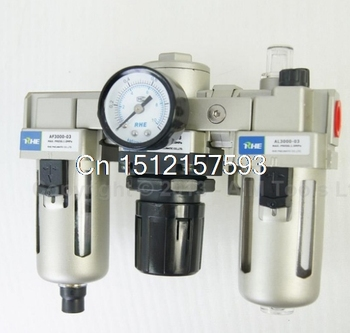 Industrial Air Filter Moisture Water Trap Pneumatic Tools Oil Lubricator AC3000-03