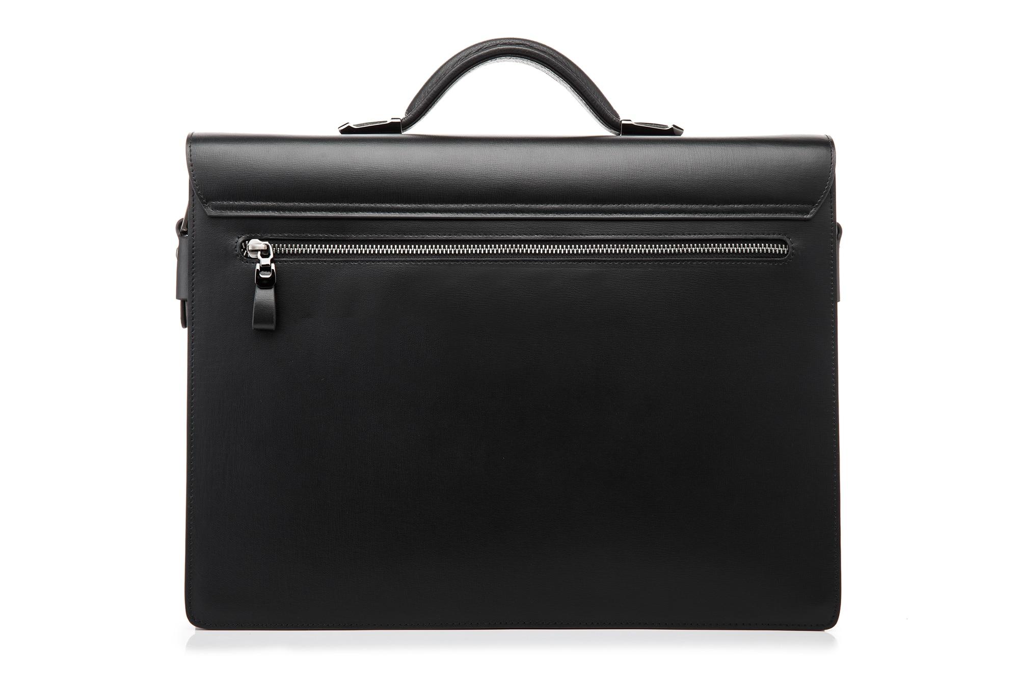 YINTE kožna crna torba muška aktovka velika i deblja torba torbica - Aktovke - Foto 3