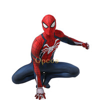 New Game PS4 INSOMNIAC Spiderman Costume 3D Print Spandex Lycra SPIDERMAN SUIT Spider man Costumes Gift