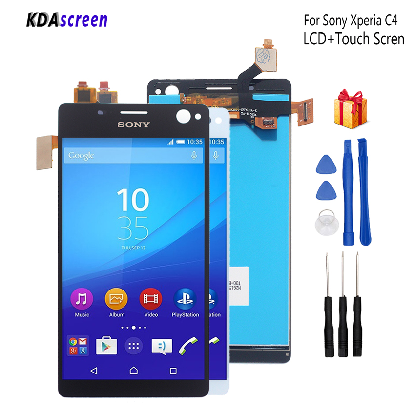 Original For Sony Xperia C4 LCD Display Digitizer Assembly For Sony Xperia C4 E5303 E5306 E5333 Display Screen LCD Phone Parts
