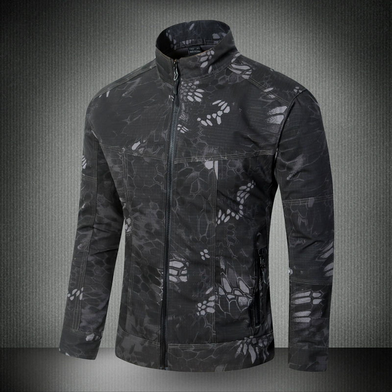 Haute qualité 2018 mode automne hiver Camouflage militaire tactique coquille dure Safari style jungle cardigan Cargo veste