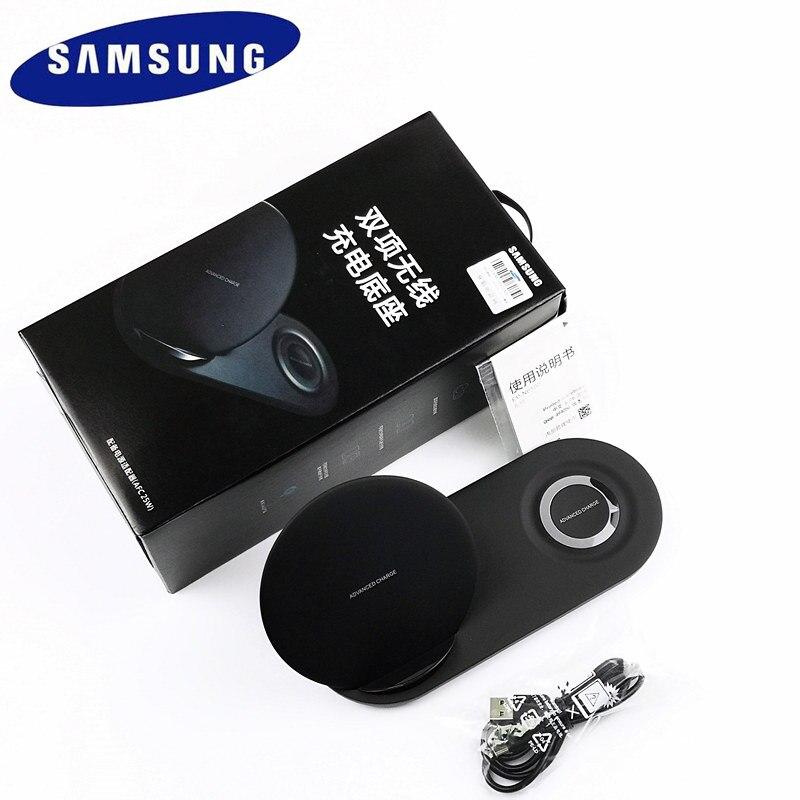 Chargeur sans fil Samsung 25 W d'origine double Charge rapide pour Galaxy S6 s7 S8 edge s9 s10 Plus Note 9 Gear S3 Sport pour apple watch