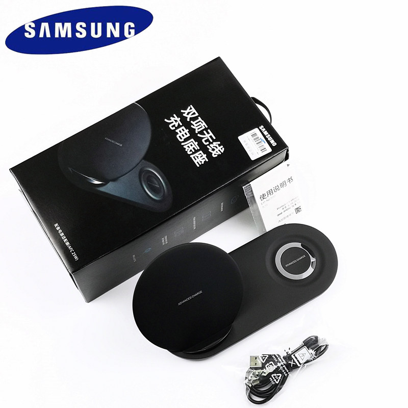 Chargeur sans fil Samsung 25W d'origine double Charge rapide pour Galaxy S6 s7 S8 edge s9 s10 Plus Note 9 Gear S3 Sport pour apple watch