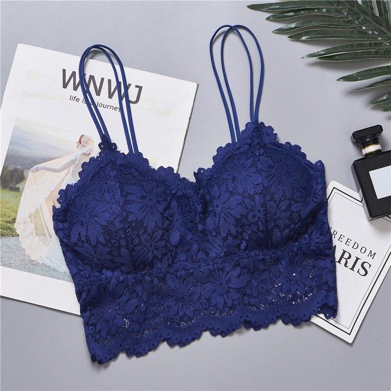 2019 Women Sexy Lingerie Lace Floral Bralette Bra Tank Camis Underwear Lace Bra Crop Tops Brassiere in Bras from Underwear Sleepwears