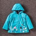 2016 Nueva primavera y otoño muchachas de la manera ocasional con capucha niños prendas de abrigo niños ropa niños chaqueta cazadora f17