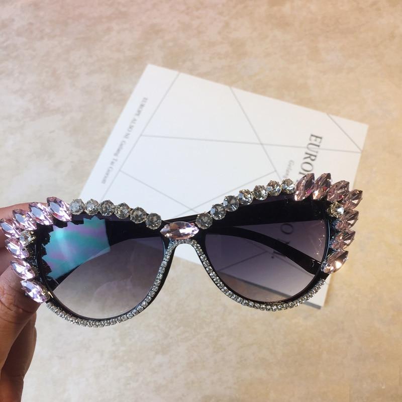 2a83d3706c Brand Designer Baroque Style Women Glasses Cat Eye Crystals Sunglass Retro  Bling Rhinestones Women Girl Sun