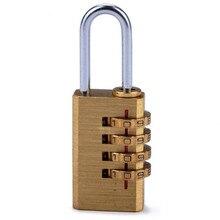 цена на 4 Digits Number Password Code Lock Combination Padlock Resettable For Travelling Bag