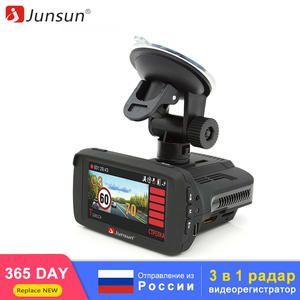 Junsun Radar-Detector Dash-Cam Russia Antiradar Car-Dvr FHD GPS 3-In-1 for 1296P Video-Recorder