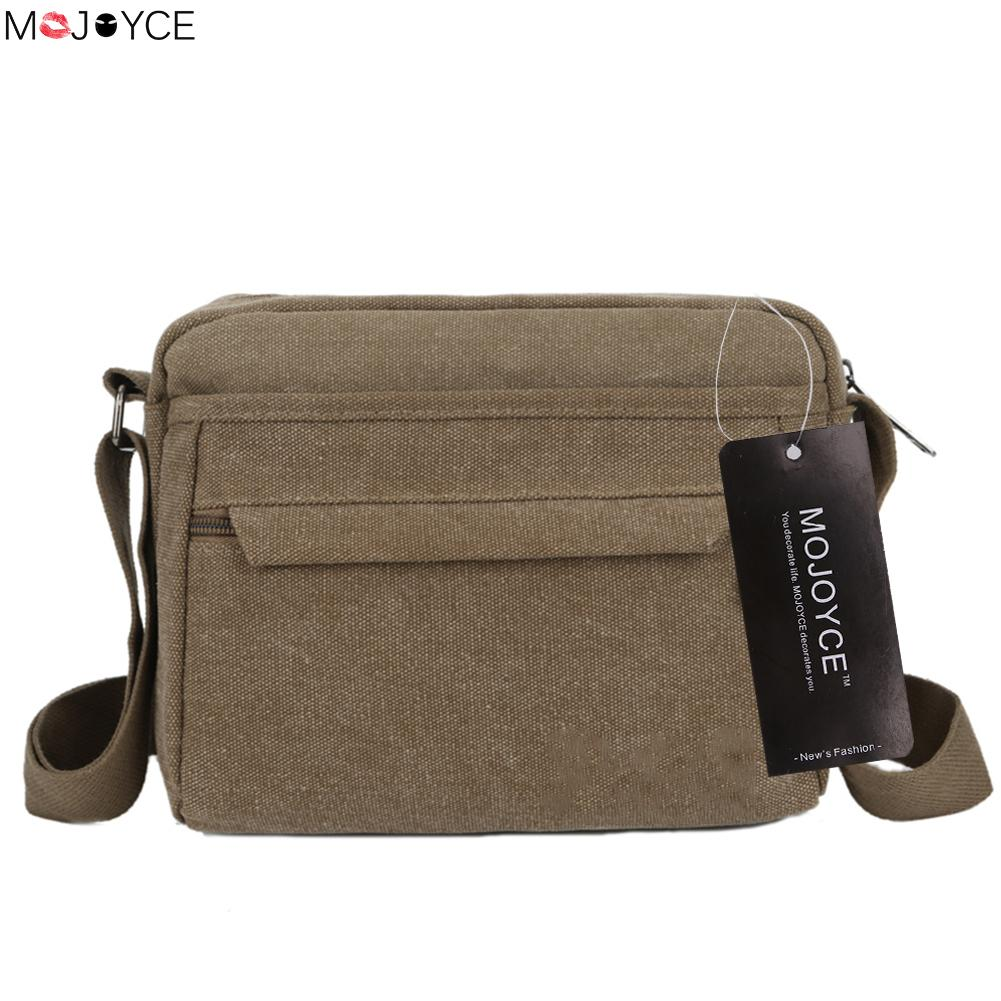 2017 Summer Casual Men Canvas Mini Business Shoulder bag Male Casual Tote Messenger Crossbody Zipper Bag  # casual canvas satchel men sling bag