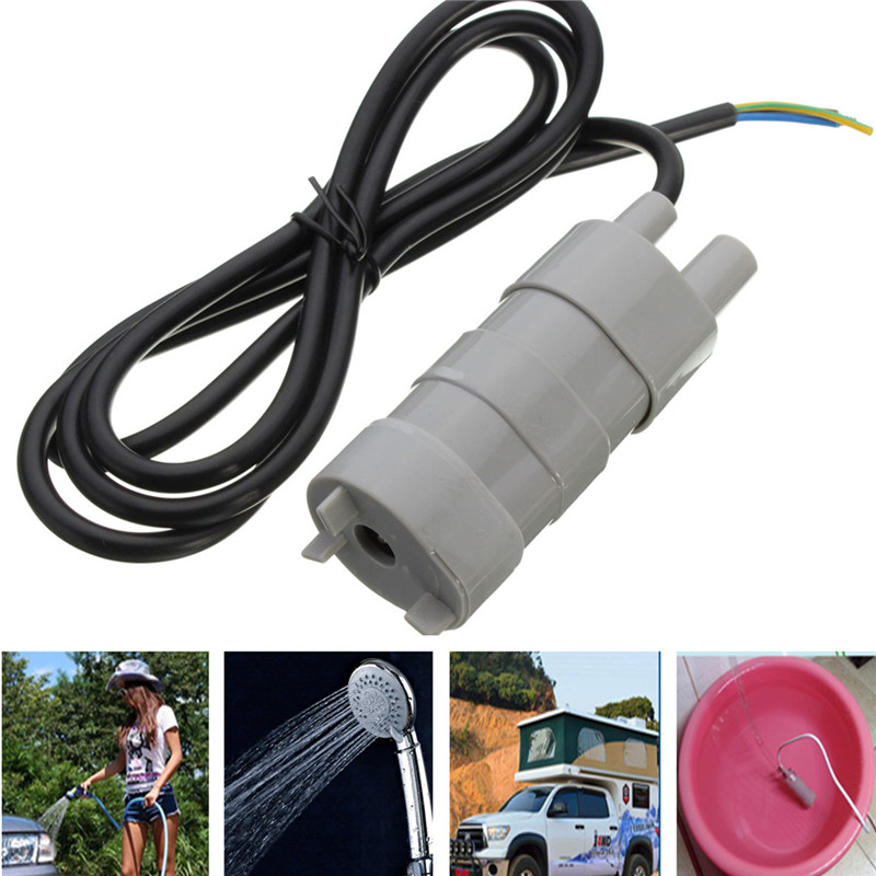 DC 12V 5M Pumping Head Mini Submersible Motor Brush Water Pump for Garden Fountain Aquarium