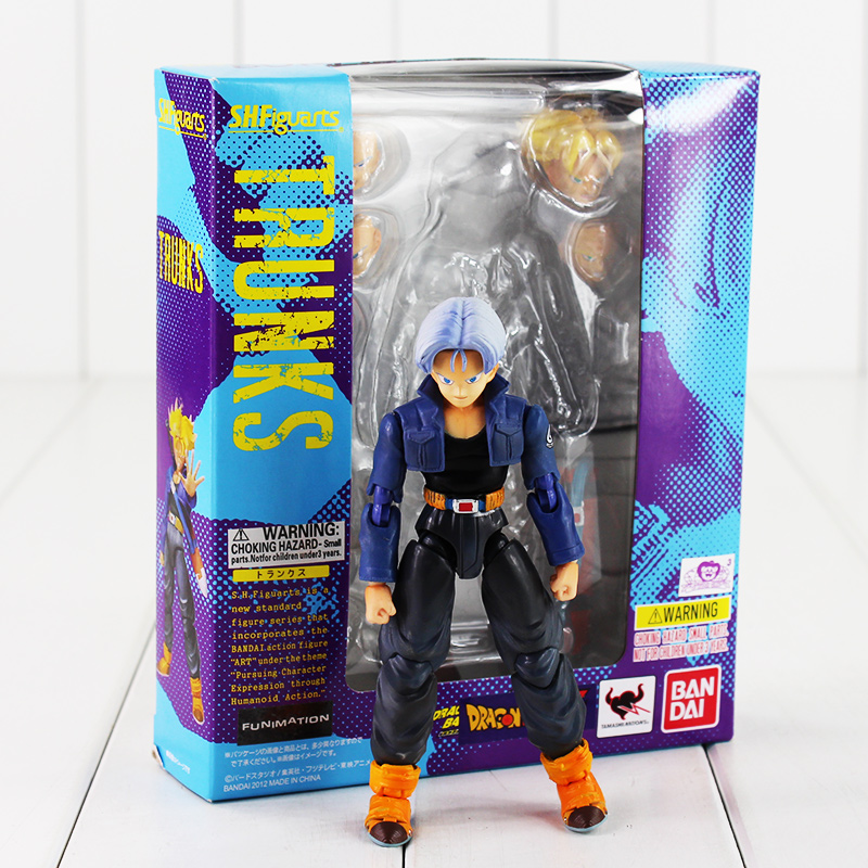 Color Boxed Trunks SHFiguart Dragon Ball Z dragonball super saiyan PVC Figure Toy free shipping japanese animation cool dragonball z super saiyan trunks 23cm 9 2 pvc figure new in box