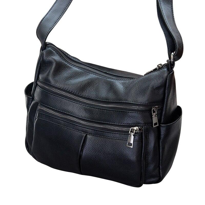 Marque Designer 2019 femmes en cuir véritable Vintage unique sac à bandoulière femmes sacs à bandoulière sacs à main pour dames - 5