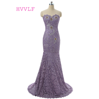Light Purple 2019 Mother Of The Bride Dresses Mermaid Sweetheart Lace Beaded Groom Long Plus Size Mother Dresses For Wedding
