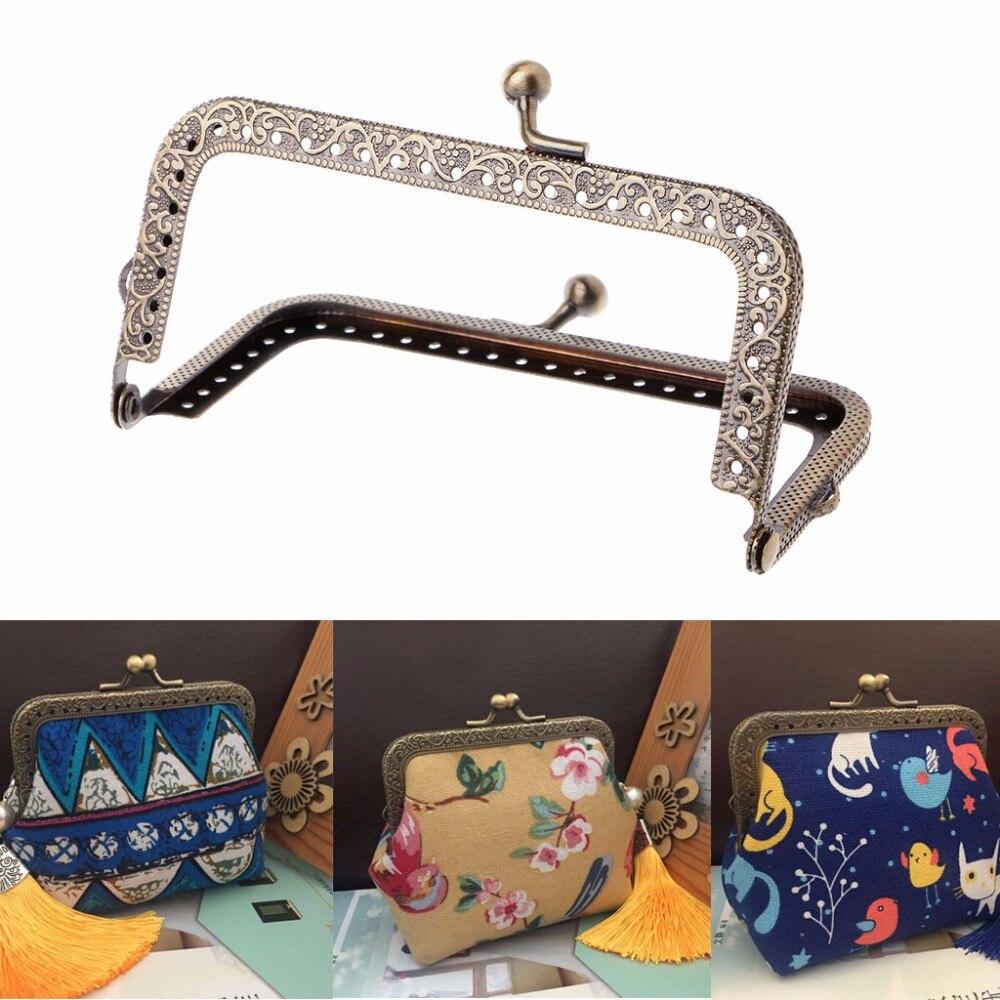 JAVRICK 1 шт., сумочка для поделок, сумки для монет, металлическая застежка, замок, рамка для поделок, 10,5 см/12,5 см/15 см/18 см/20,5 см