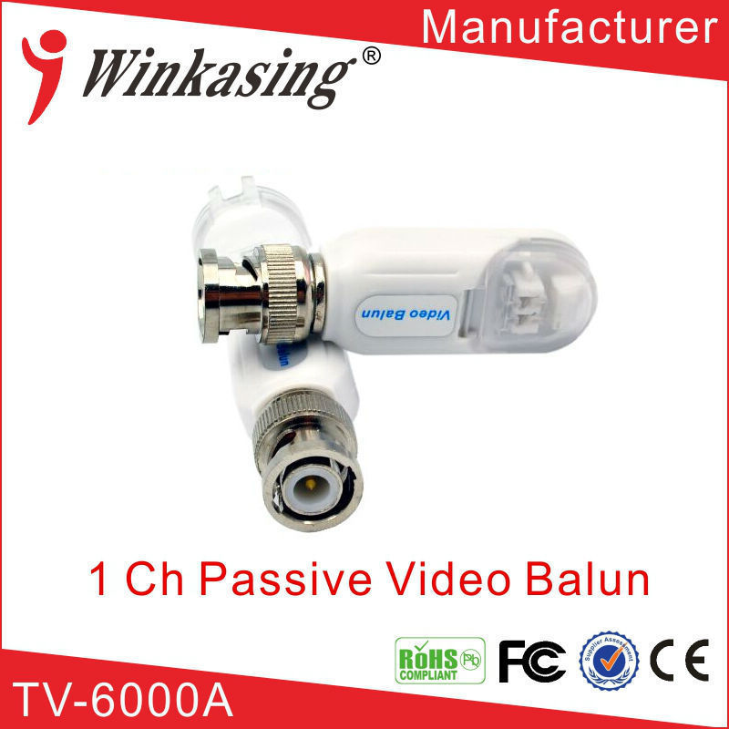 Single Channel Passive Video Balun Transceiver Tool-less No Wire Stripping Required  High Quality video balun surveillance 20PCS single channel passive video balun grey silver 2 pcs