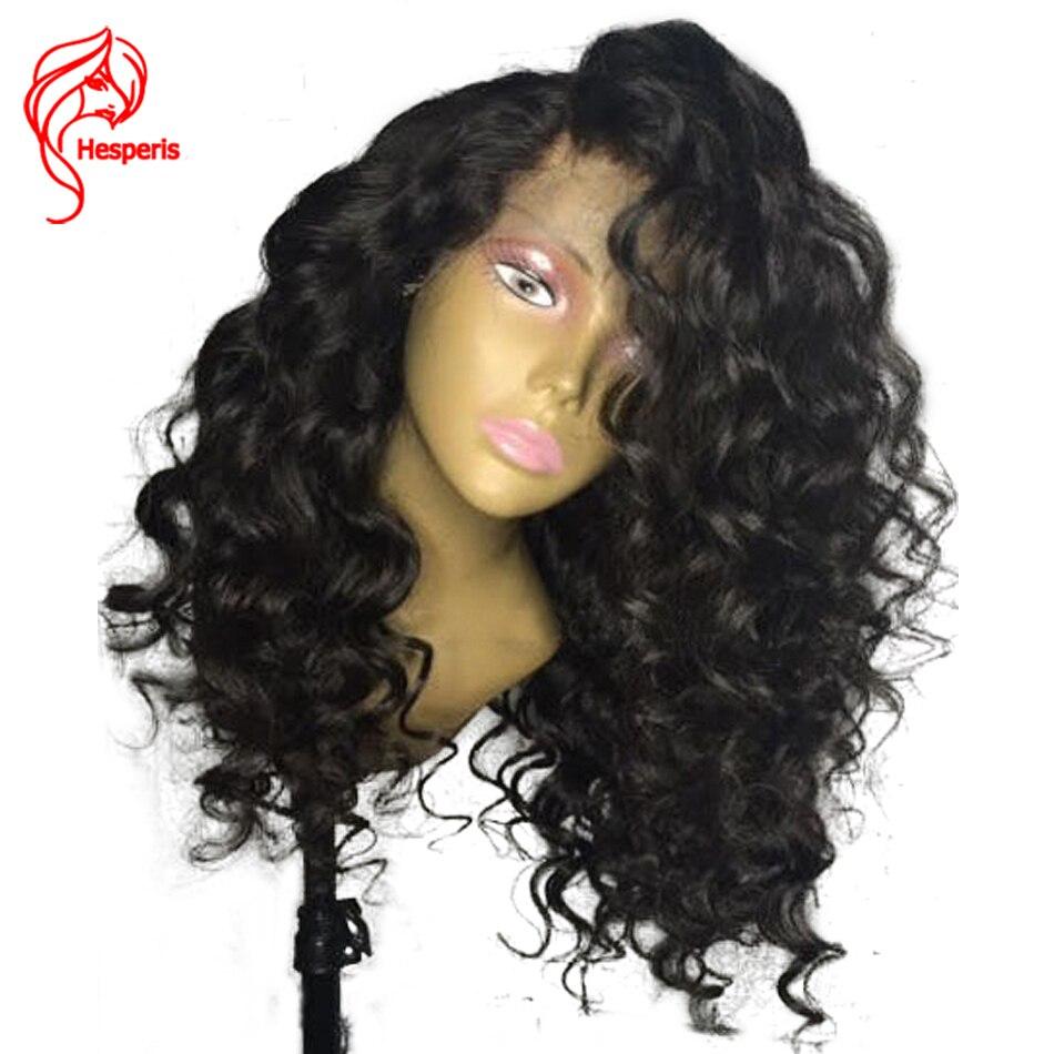 Hesperis Bouclés Avant de Lacet Perruques de Cheveux Humains Pour Les Femmes du Brésil 150% densité 13*6 Avant Dentelle Perruque Vague Profonde Naturel Couleur cheveux de Bébé