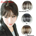 Hair Front Neat Bangs For Women 6cm Natural Hair Bangs Synthetic Clip in Bangs Front Neat Bangs Fringe Hair franja flequillo