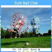 Бесплатная доставка 1.2 м 100% ТПУ Футбол zorb для детей, спортивные мячи Средства ухода за кожей, воздушный шарик бампера надувные. Средства уход