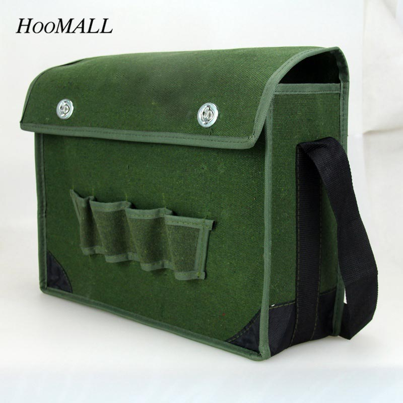 Hoomall Green Tool Bag Multifunction Waterproof Wearable Storage Repair Tools Bag Oxford Canvas Outdoor Working Shoulder Toolkit