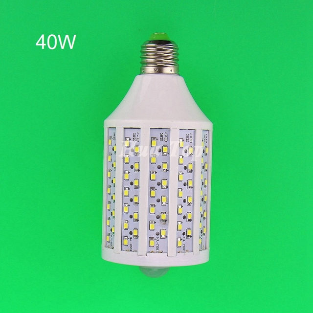 1Pcs New 40W  Intellgent Motion LED SMD 2835 chip 182 PIR Infrared home light Porch ampoules body induction lamp Energy saving
