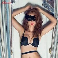 Deep U Bra Women Underwear Backless Intimates Underwire A B C Open Cup Push Up Girls