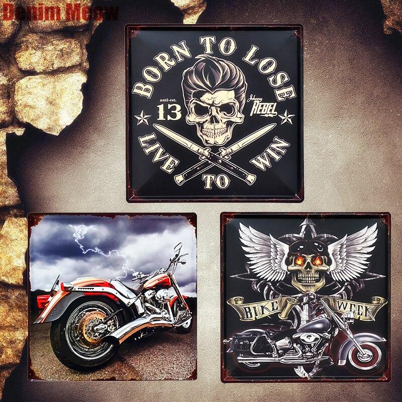 라이프 플라크에 타고 빈티지 금속 접시 이탈리아 오토바이 장식 징후 자전거 주 벽 스티커 자동차 그림 홈 장식 MN81