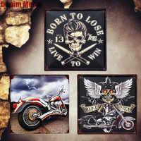 Placa de paseo a la vida placas de Metal Vintage Italia motocicleta señales decorativas Semana de la bicicleta pegatinas de pared pintura del coche decoración del hogar MN81