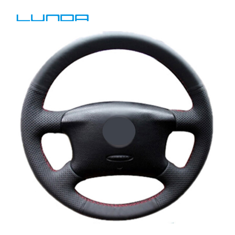 Custom Car Steering Wheel Cover Case for VW Golf 4 Skoda Octavia 1999-2005 VW Passat B5 Volkswagen B5 Passat speedwow electric master window switch for skoda fabia 6y skoda octavia a4 1u 1999 2009 vw golf 1999 2005 1j3959857a