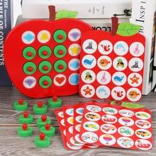 Montessori Apple Geheugen Bijpassende Schaken Houten Kinderen Vroege Educatief Speelgoed Familie Games Het Is Goede Puzzels Voor Kinderen Geschenken